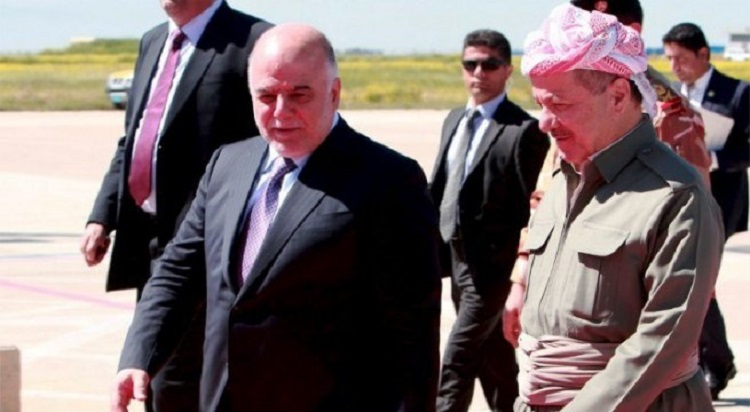 العبادي: حكومة كردستان أوشكت على الافلاس بسبب فساد عدد من المسؤولين وأسرهم