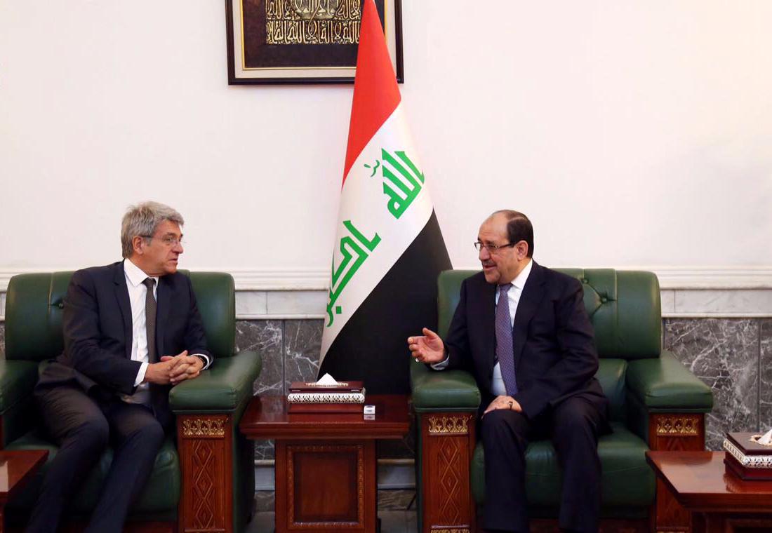 نوري المالكي يستقبل سفير جمهورية فرنسا الجديد لدى العراق