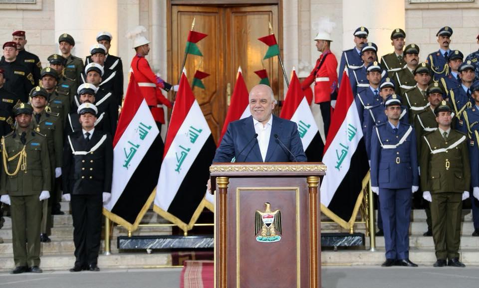 العبادي يعلن تحرير ارض العراق بالكامل