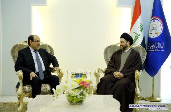 الحكيم للمالكي: الانتخابات القادمة ستنقل العراق من مرحلة اللا استقرار الى الاستقرار