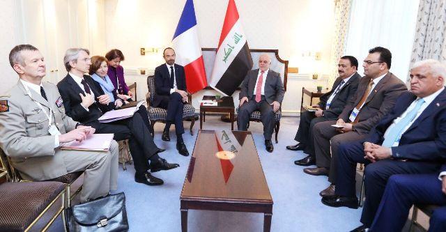 العبادي لفرنسا: مستمرون بمحاربة داعش ونعتز بالعلاقات العميقة بين البلدين