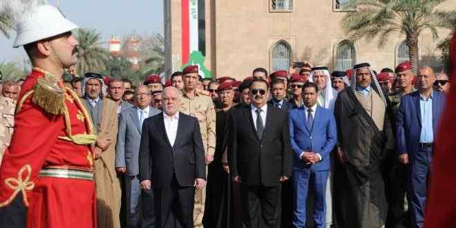 العبادي يحضر مراسم تشييع قائد قائد حمايته الخاصة ويتوجه لنينوى