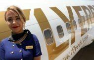 هبوط اول طائرة تابعة لشركة فلاي اربيل الكوردية في مطار أربيل